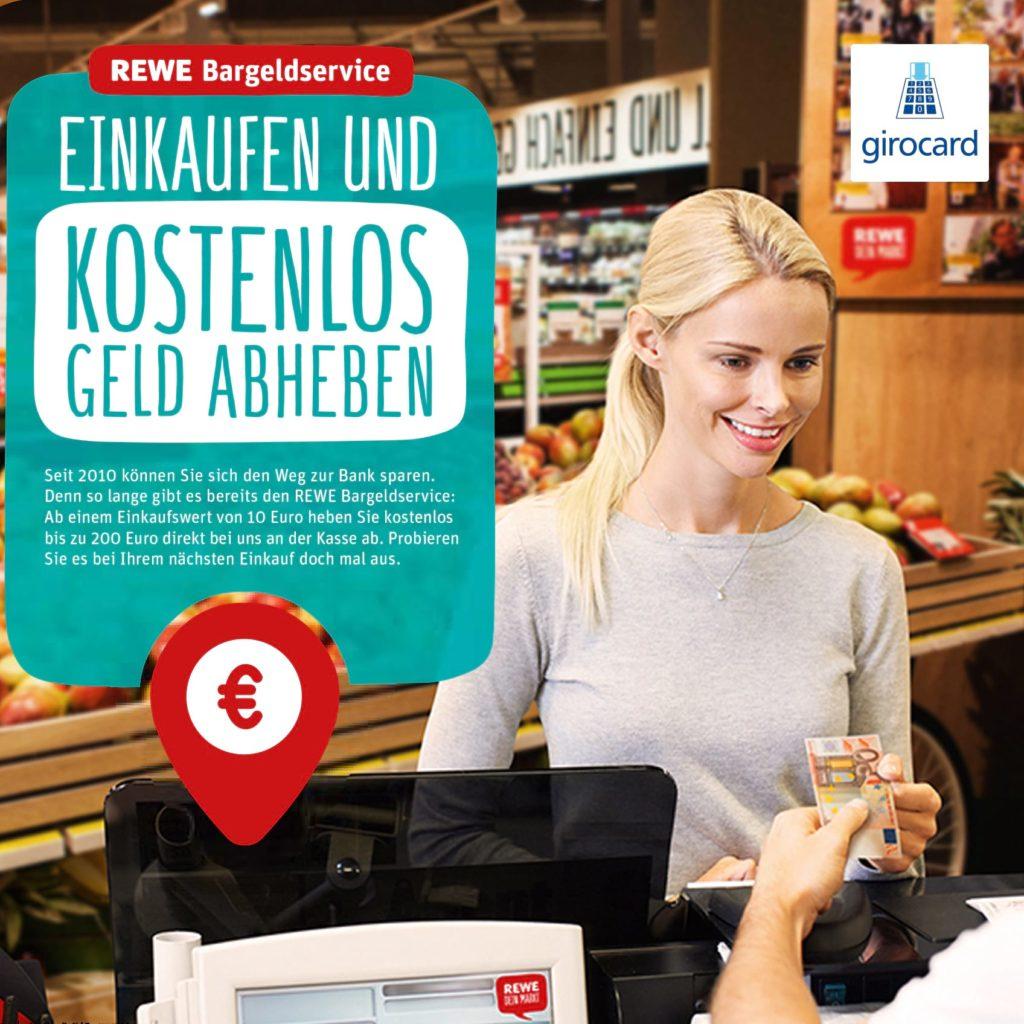 Rewe Bargeldabhebung ab 10 Euro